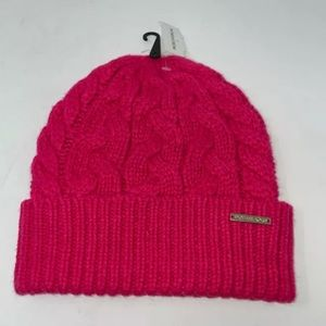 Michael Kors Pink Cable Knit Cuff Beanie